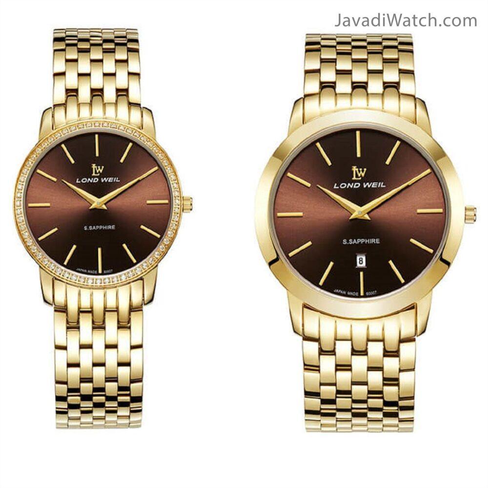 ساعت لوندویل ست بند فلزی طلایی کافی مدل 60007