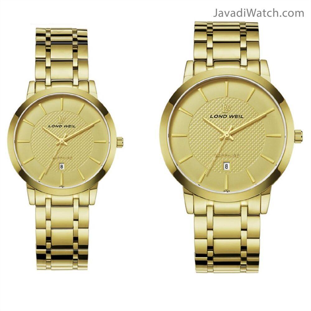 ساعت لوندویل ست بند فلزی طلایی مدل 60044