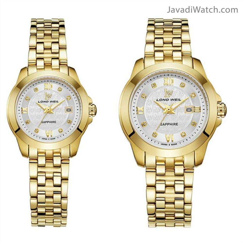 ساعت لوندویل ست بند فلزی طلایی سیلور مدل 60046