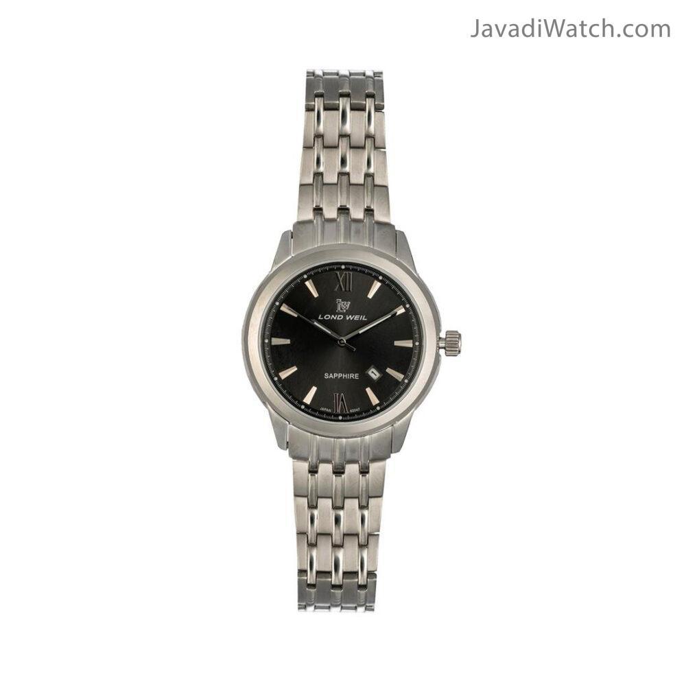 ساعت لوندویل زنانه بند فلزی استیل دودی مدل 60047