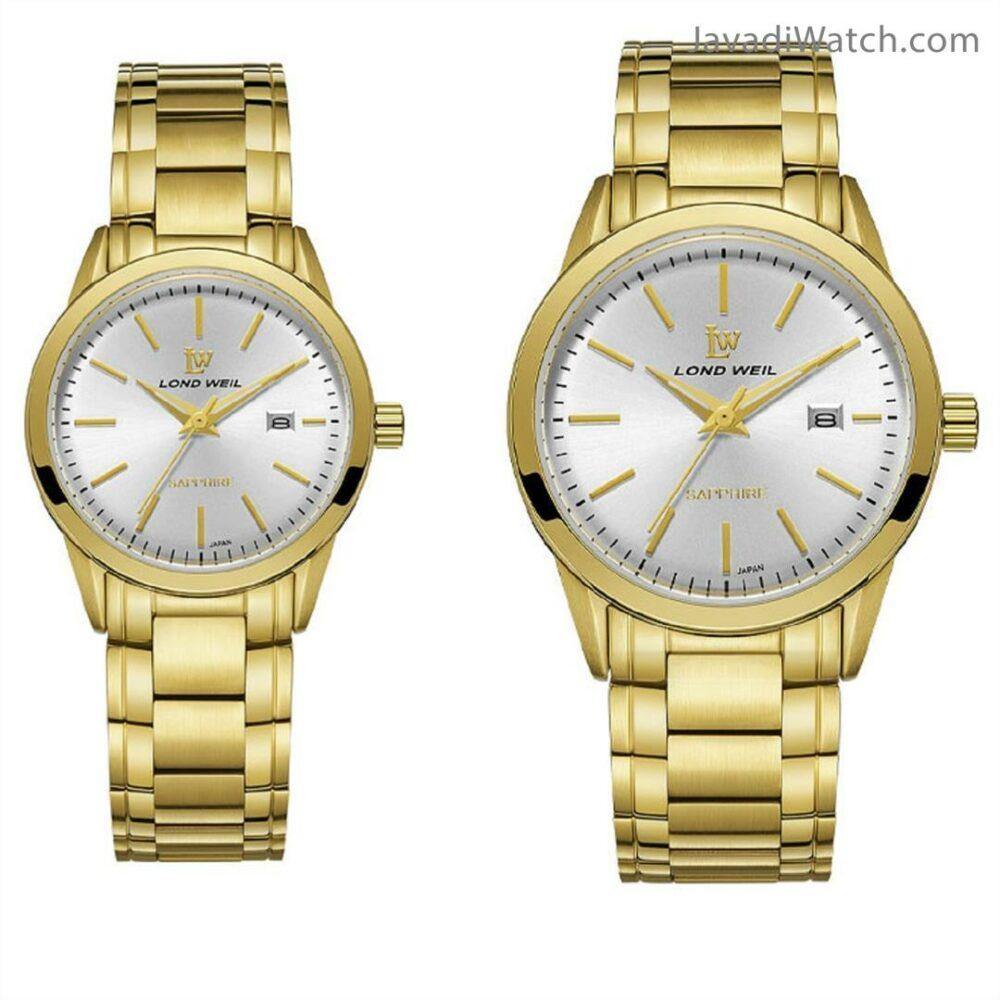 ساعت لوندویل ست بند فلزی طلایی سیلور مدل 60048