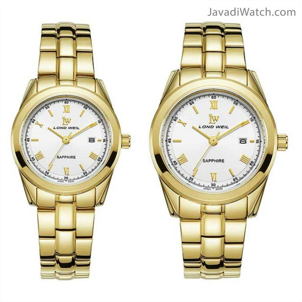 ساعت لوندویل ست بند فلزی طلایی سیلور مدل 60050