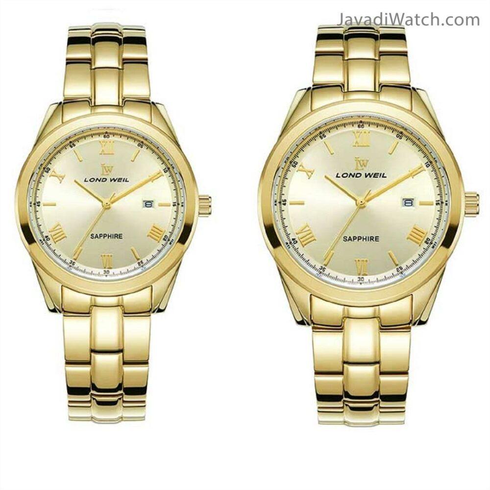ساعت لوندویل ست بند فلزی طلایی مدل 60050
