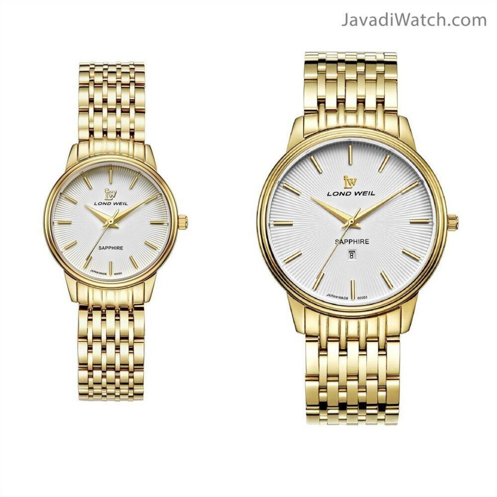 ساعت لوندویل ست بند فلزی طلایی سیلور مدل 60053