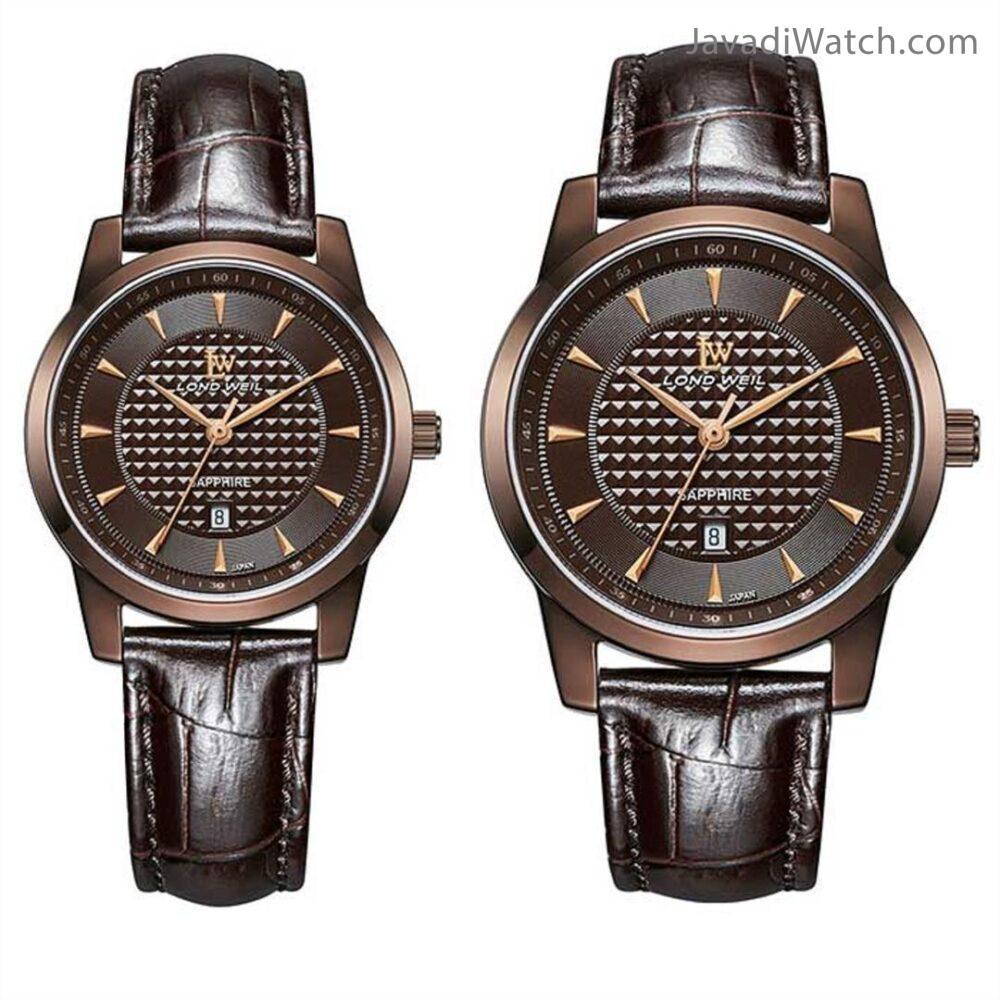 ساعت لوندویل ست بند چرمی کافی مدل 630018