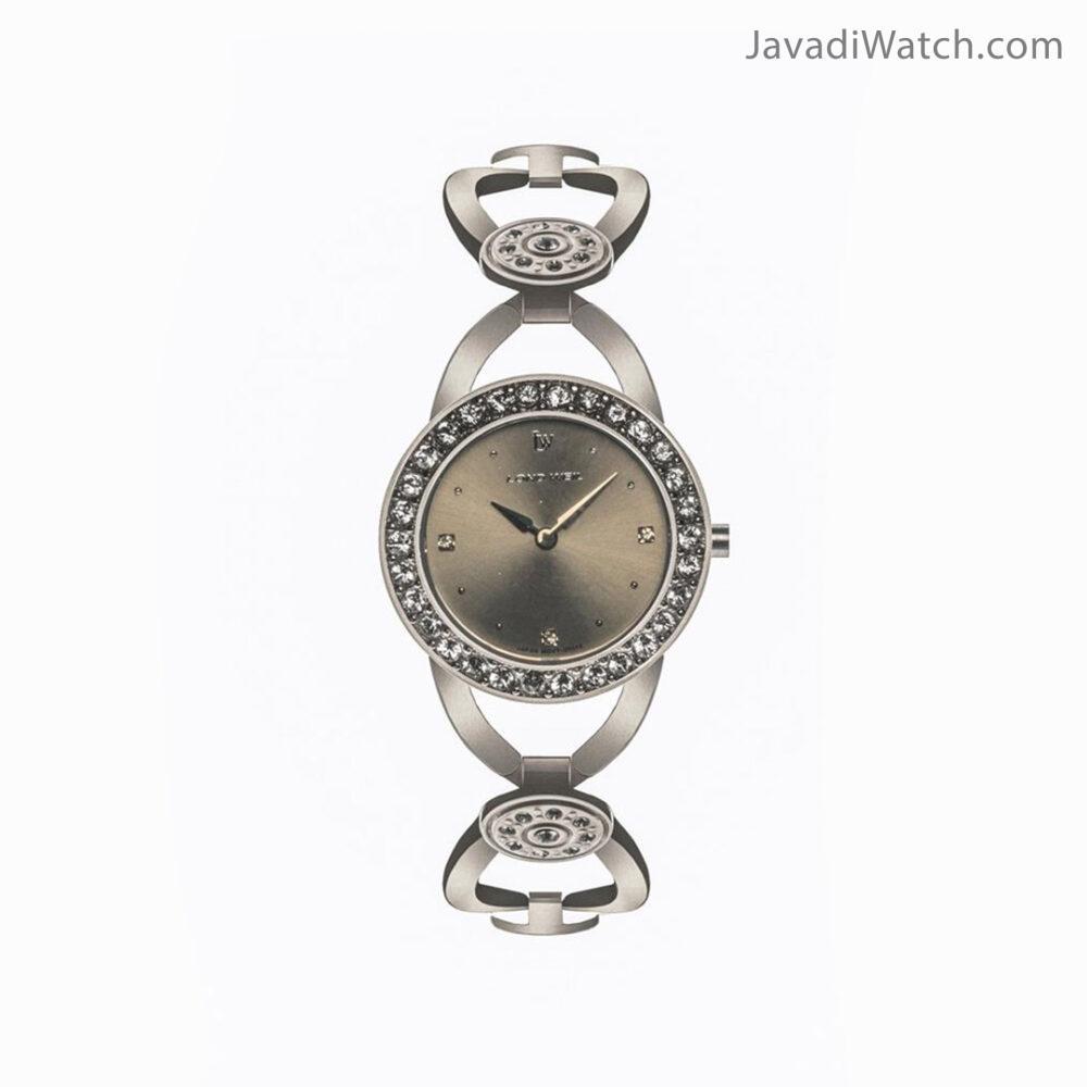 ساعت لوندویل زنانه بند فلزی استیل مشکی مدل 20012