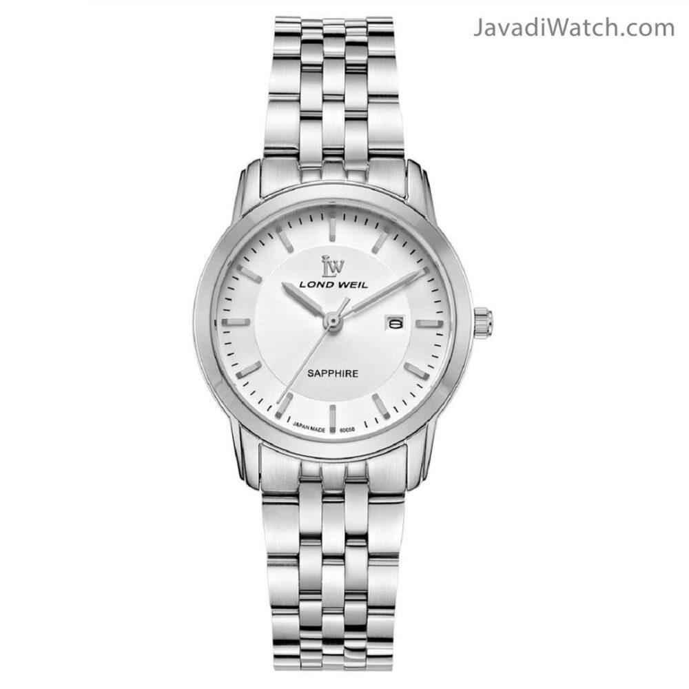 ساعت لوندویل زنانه بند فلزی استیل سیلور مدل 60058
